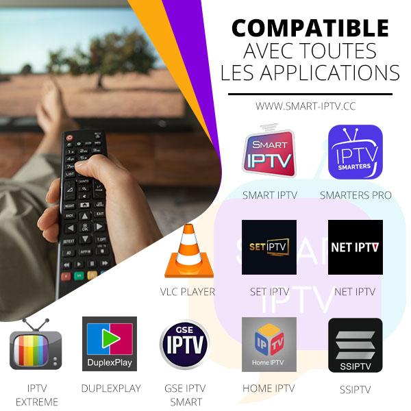compatible avec toutes les application iptv